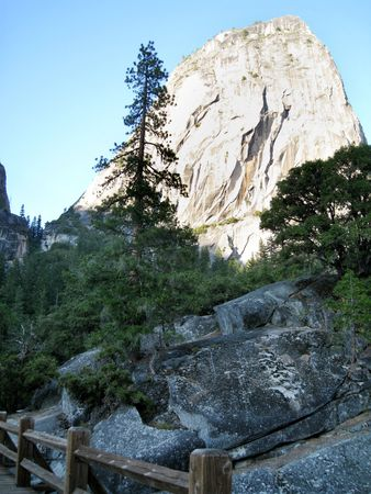 Liberty Dome from the Mist Trail. Yosemite National Park, California, USA photo