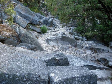Coble Stone hiking trail in Yosemite National Park, California, USA photo