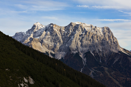 zugspitze mountain: Wets face of the highest mountain of Germany Mt. Zugspitze.