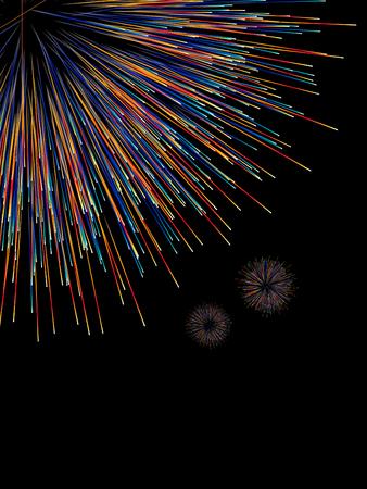 Fireworks radioactivity diagram