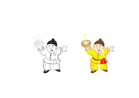 Chinese traditional character cartoon