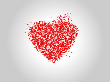 Corazón roto granulado