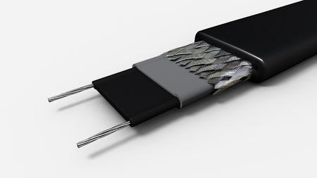 insulator: Close up to an electricity heating insulator