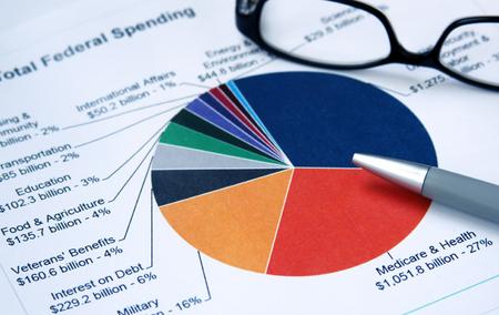 billions: Pie chart depicting expenditure categories