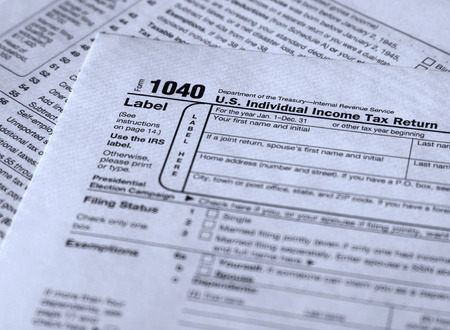 form 1040 personal income tax reporting form