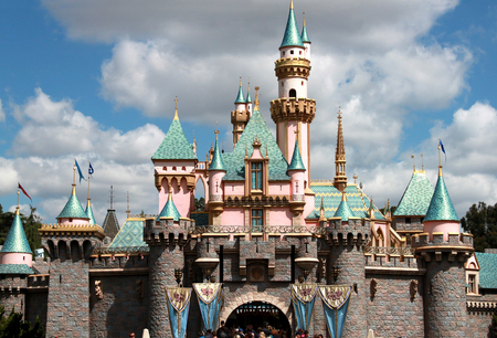 princess castle in disneyland, los angeles california. The picture was taken on Apr 9, 2011.
