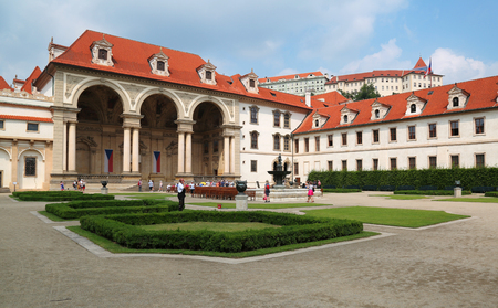 Prague, Jun 11, 2018 - Wallenstein palace in Mala Strana, Prague which now houses the senate of the Czech Republic 新闻类图片