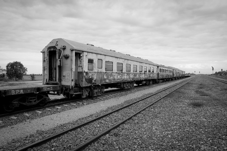 howrah: black and white India train