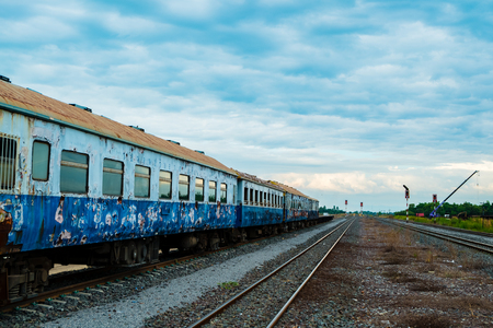 howrah: old train classic with blue cloud sky