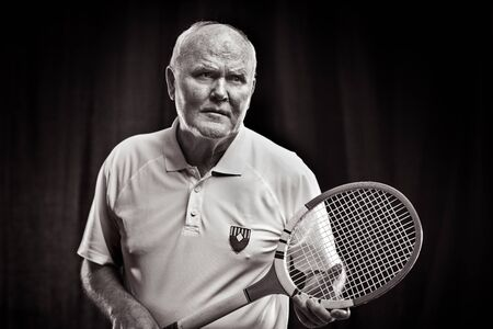 historically: Portrait of an old tennis player