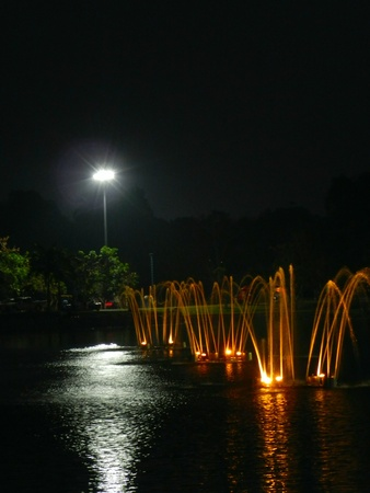 Fountain at night                          Stock Photo - 13250623
