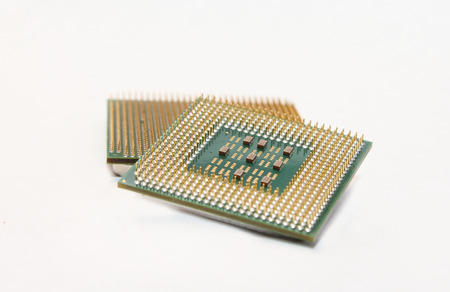 processors: pair of processors isolated on pure white background