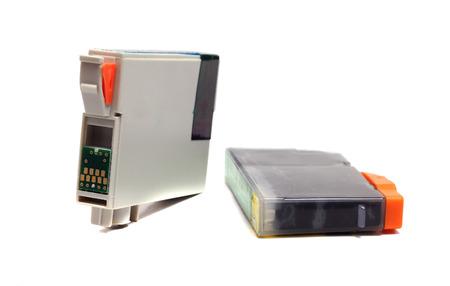 inkjet printer: inkjet printer cartridges isolated on a white background