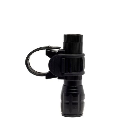 flashlight: dusty rubber mount for flashlight and flashlight Stock Photo