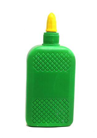 pegamento: grandes botellas verdes de papelería pegamento