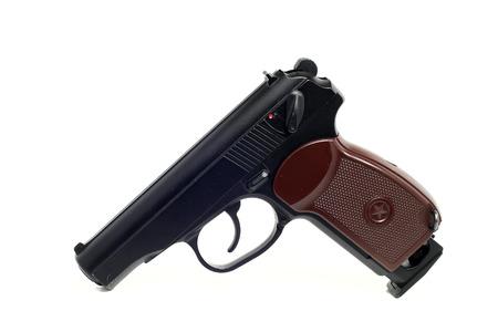 gun trigger: a true copy of dusty air gun on a white background