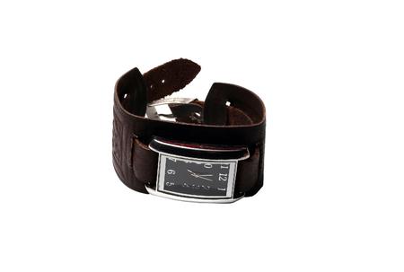 wrist strap: small wrist watch with leather strap