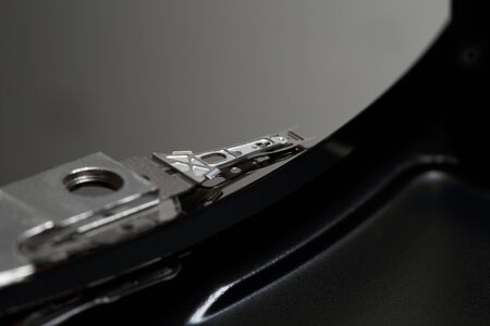 hdd: HDD head photographed close up Stock Photo