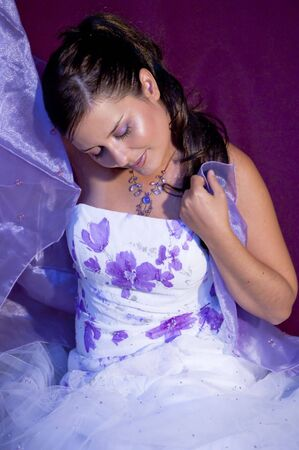 Picture of a model in violet colors. Stock Photo - 4559465