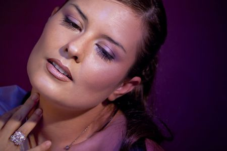 Picture of a model in violet colors. Stock Photo - 4556155