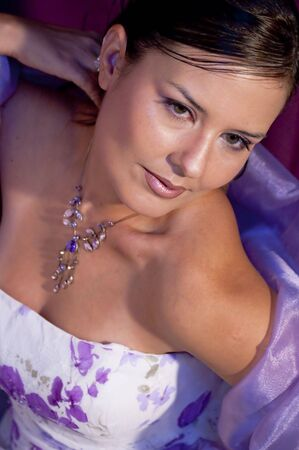 Picture of a model in violet colors. Stock Photo - 4559455