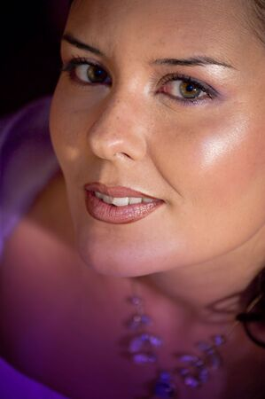 Picture of a model in violet colors. Stock Photo - 4556166