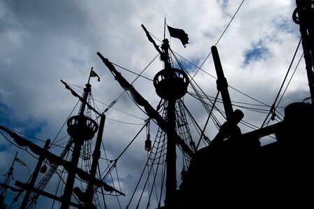 Picture of a pirate ship. photo