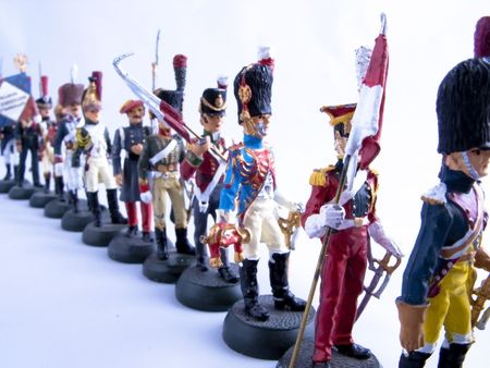 Picture of a tin soldiers, vintage toys. photo