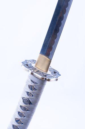 ponte giapponese: Immagine di una spada di samurai con dettagli di Nizza. Archivio Fotografico