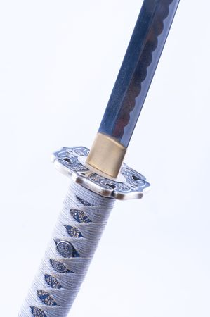 Picture of a samurai�s sword with nice details. photo