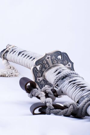 Picture of a samurai´s sword with nice details.