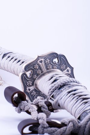 steel bridge: Picture of a samurai�s sword with nice details.