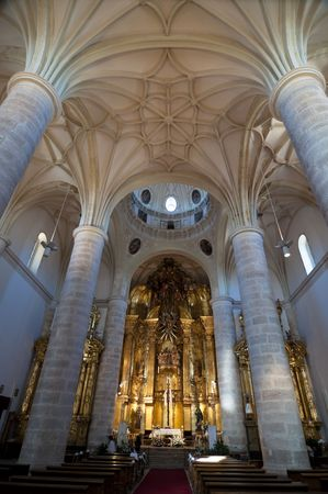 Indoor cathedral�s picture from Europe. photo