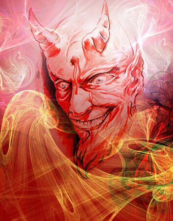 Paint of Devil Stock Photo - 4808816