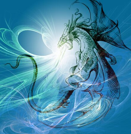Paint of a dragon. Stock Photo