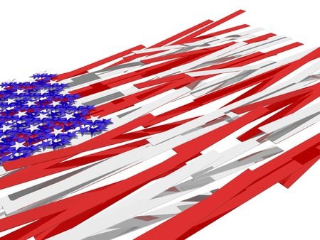 American flag´s picture over white background Stock Photo - 4933546