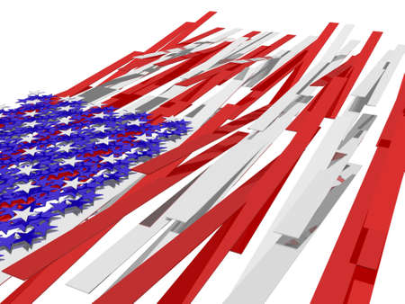 American flag´s picture over white background Stock Photo - 4933547