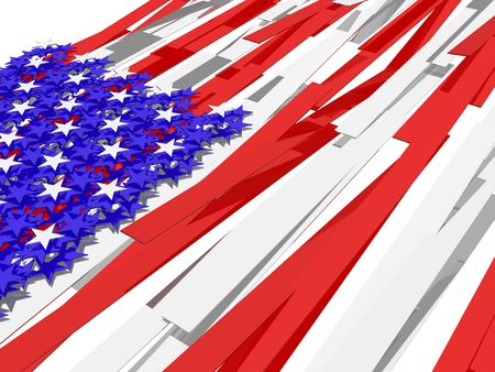 American flag�s picture over white background Stock Photo - 4933582