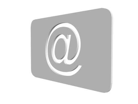 Email symbol�s illustration over white background illustration