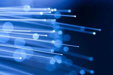 optical fiber: Optical fiber picture with details and light effects.