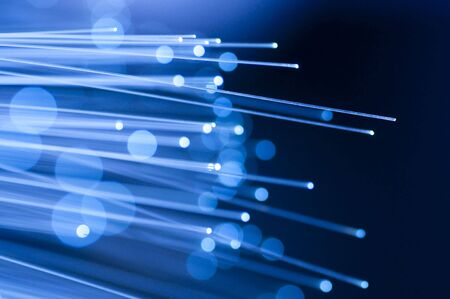 Optical fiber picture with details and light effects. Stock Photo - 5593065