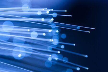 fibre optique: Photo de fibres optiques avec des d�tails et des effets de lumi�re.