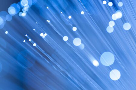 Optical fiber picture with details and light effects. photo