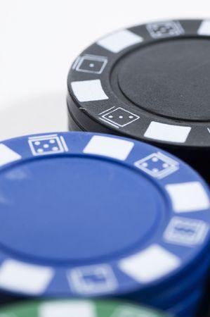 Chip poker picture over white bakground. photo