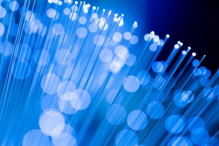 fibre optique: Image de la fibre optique avec des d�tails et des effets de lumi�re. Banque d'images