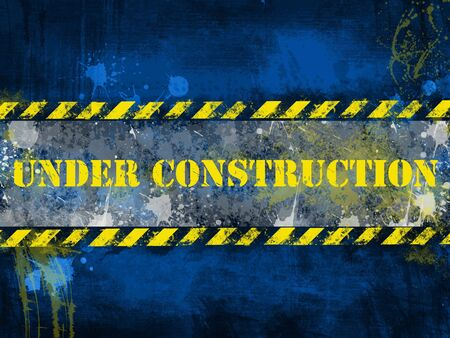 Under construction, poster, symbol. photo