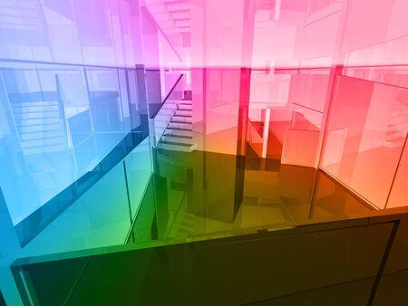conceptual architecture, open space of colors photo