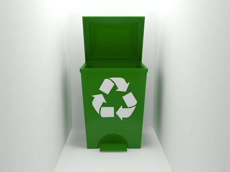recycle bin,green Stock Photo - 6482689