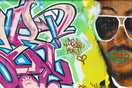 segment: Segmento colorata di un graffiti in Spagna  Editoriali