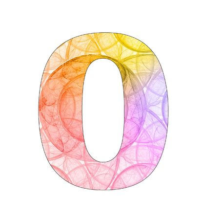 0 number with abstract design photo